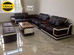 ghế sofa da cao cấp, sofa phòng khách chung cư giá rẻ