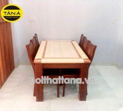 Bàn ăn mặt đá 6 ghế gỗ sồi nhập khẩu BA45