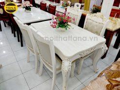 Bộ bàn mặt đá 6 ghế BA11