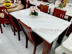 Bộ bàn mặt đá 6 ghế BA39